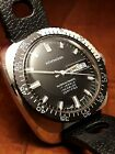 vintage WAKMANN SUPER AUTOMATIC CERTIFIED 36mm Stainless Steel Diver nos ca.1970