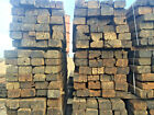 """Reclaimed Pine Railway Sleepers Grade """"B"""" (delivery available)."""