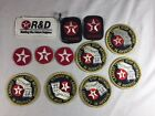 Vintage Lot Texaco Patches Gas Oil Service Station Jacket Hat Patch
