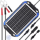 SUNER POWER 12V Solar Car Battery Charger  Maintainer Portable 8W Panel Trick