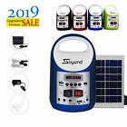 Portable Solar Generator Solar Panel Power Inverter Electric Generator Kit Light