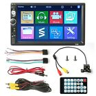 🔥7inch 2 DIN Car Stereo Mp5 Player Touch Screen Radio With Free HD Rear Camera