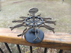 Vintage Antique Rubber Stamp Spinning Tree Carousel Rack Holder Stand