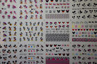 Nail Art Water Transfer Sticker Disney Mickey Minnie Mouse Decals Manicure WDW