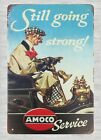 US Seller- lodge decor Still Going Strong Amoco Service tin metal sign