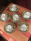 SATSUMA ANTIQUE TEA SET CUPS AND SAUCERS HEAVY GOLD EXCELLENT