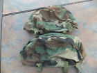 2 Used Vintage Military Cloth Camo Helmet Covers Ground Troops Parachutists