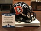 Phillip Lindsay Autographed Denver Broncos Color Rush Mini Helmet Beckett
