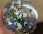 PAIR of Hand Blown Cased Glass Spheres Studio Art Glass High Quality