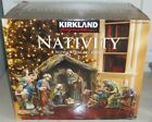 18 PC KIRKLAND SIGNATURE NATIVITY W CRYSTAL ACCENTS HAND PAINTED ANTIQUED STYLE