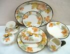 FRANCISCAN OCTOBER Autumn Leaves Dinner  Salad Plates Bowls Cups Saucers