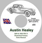 Austin Healey 3000 and 3000 MK II Factory Parts Manual - BN7 & BT7 on CD/ROM
