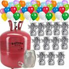 Helium balloon pump Tank + 50 Multi Color balloons + 12 Weights for balloons