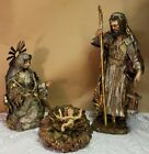 Dept 56 Neapolitan Nativity Holy Family Mary Halo Baby Jesus Joseph Manger As Is