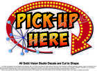 Pick Up Here Concession Trailer Hot Dog Ice Cream Food Truck Menu Sign Decal