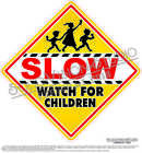 Slow Watch For Children Ice Cream Concession Truck Child Safety Sign Decal Sizes