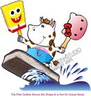 Ice Cream Novelty Cow Concession Trailer Food Cart Truck Menu Sign Sticker Decal