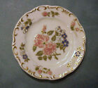 ZSOLNAY HUNGARY hand painted Porcelain BUTTER PAT -- Pretty FLORAL