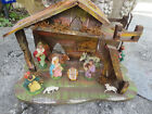 Vintage 10 pc Nativity Set Italian Creche Set