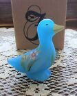 FENTON GLASS DUCK SKY BLUE 5317 F4 NIB