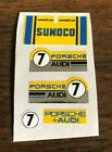 Aurora AFX Sunoco #7 Yellow Thermal Print Decals w/better chrome than original