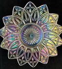 Vintage Federal Glass Petal Iridescent Platter Carnival Glass 8 1/2