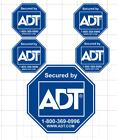 ADT Home Security Sticker Set OF 5 ANY COLOR or SIZE 5 x 5