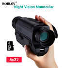 5x32 Optics 16GB Infrared Night Vision Monocular Auto Power Off 200M in the Dark