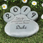 PERSONALIZED Paw Print Dog Cat Pet Memorial Cemetery Grave Marker Tomb Stone