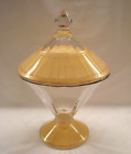Vintage DIAMOND CANDY DISH - Unusual Candy Dish, Lid - Two-Tone Gold - Great!!