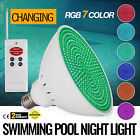 Swimming Pool Light 110V 35W RGB LED With Remote Control PC Cover Garden 6Keys
