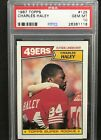 1987 Topps #125 CHARLES HALEY ROOKIE 49ers GEM MINT PSA 10