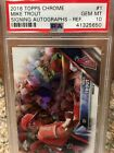 2016 Topps Chrome #1 Mike Trout Signing Autographs-Refractor PSA 10