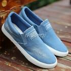 Mens Casual Slip On Canvas Denim Loafers Sneakers Board Sport Shoes