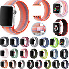NEW Apple Watch Sports Loop Breathable Stripe Woven Nylon Replacement Band Strap