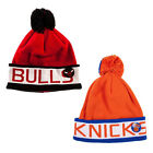 Mitchell and Ness NBA Pom Knit Beanie One Size