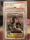 1984 Topps USFL Steve Young rc auto PSA Mint 9 sp Pop 5 None Higher - Silver Ink
