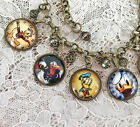 DONALD DUCK Altered Art GLASS DOME CHARM BRACELET From VINTAGE IMAGES