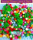 100 Lego Assorted Flowers Leaves  Plant Stems 230+ pieces in each lot NEW
