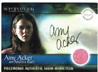 Supernatural Season 1 Autograph Pieceworks Card PWA-2 Amy Acker as Andrea Barr