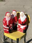 Pair Vintage 1968 Empire  1 General Foam Blow Mold Santa Clause 14 Christmas