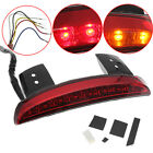 Red Fender Edge Turn Signals Tail Brake Lights For Harley Sportster XL883 1200