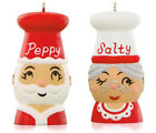 2015 Hallmark TIS THE SEASONING! Santa & Mrs. Claus salt pepper shakers ORNAMENT