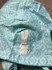 NWOT Pottery Barn Kids Aqua Bunny Small Easter Basket Liner New