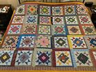 New Quilt Top 83 in X 96 in Square in a Square Design Top Quality 100 Cotton