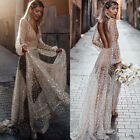 Womens See Through Dress Sequins Long Sleeve Prom Dresses Evening Party Cocktail