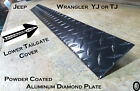 Jeep Wrangler YJ or TJ Powder Coated Diamond Plate Lower Rear Tailgate Cover