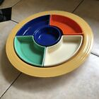 Vintage Homer Laughlin Fiesta Fiestaware Relish Dish Chip-n-Dip-Multi color