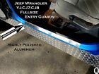 Jeep Wrangler YJ CJ7-CJ8 Highly Polished Aluminum - entry guards 24