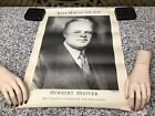 Original 1932 Herbert Hoover Republican Candidate For President Political Poster
